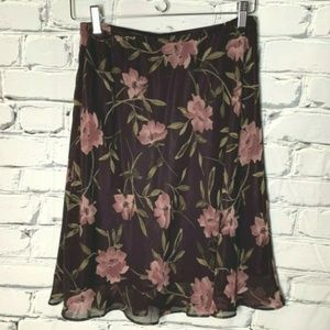 😊 Express Skirt Size Small Floral Purple Green